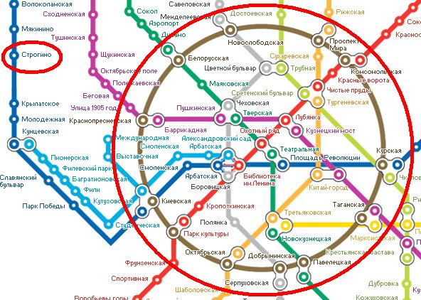Схема движения от ярославского вокзала до шереметьева